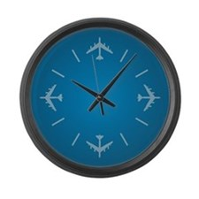 Airplane Large Wall Clock