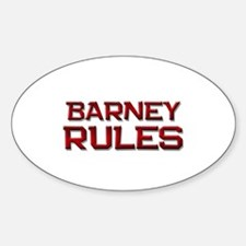 barney rules Oval Decal