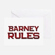 barney rules Greeting Card