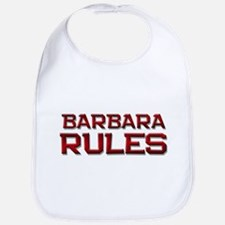 barbara rules Bib