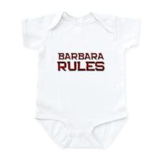 barbara rules Infant Bodysuit