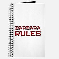 barbara rules Journal