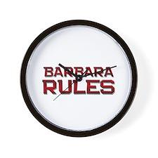 barbara rules Wall Clock