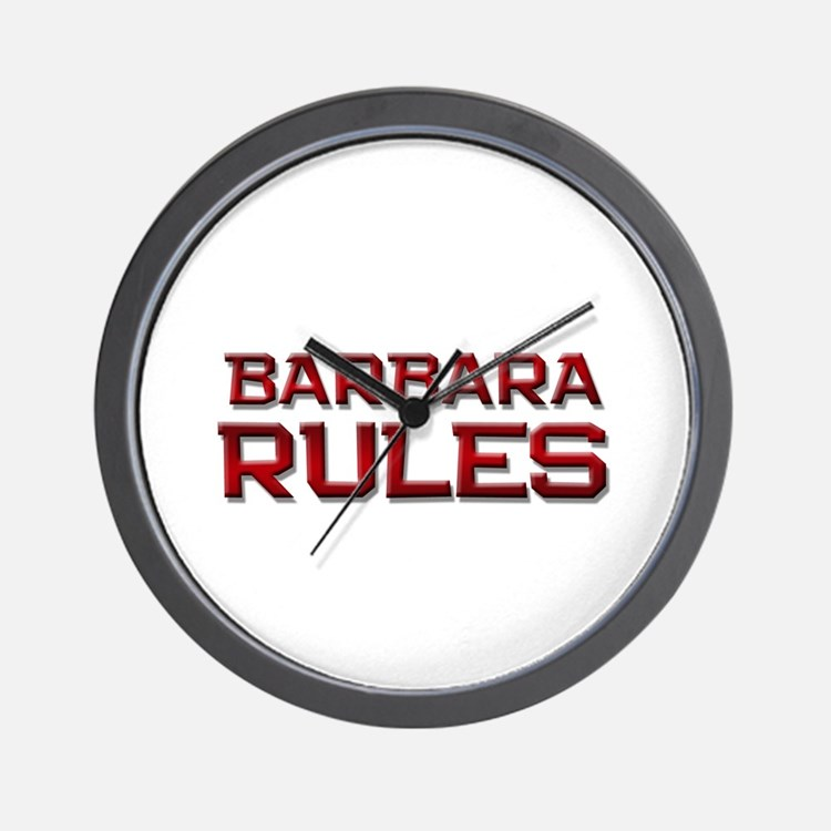 barbara rules Wall Clock