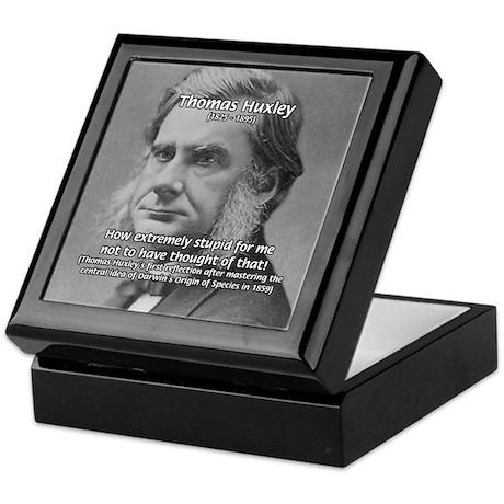 Thomas Huxley and Darwin Keepsake Box