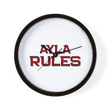 ayla rules Wall Clock
