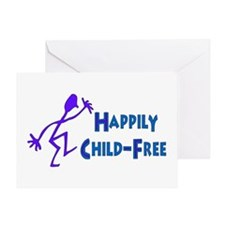 Happily Child-Free Greeting Card