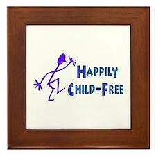 Happily Child-Free Framed Tile