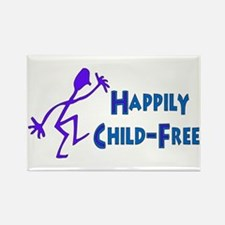 Happily Child-Free Rectangle Magnet