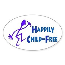 Happily Child-Free Oval Decal