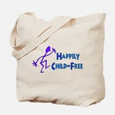 Happily Child-Free Tote Bag