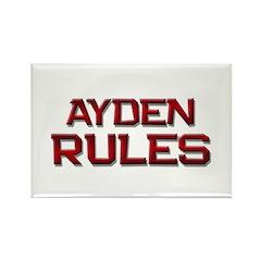 ayden rules Rectangle Magnet