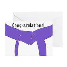 Martial Arts Congratulations Purple Belt Card