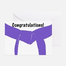 Martial Arts Congratulations Purple Belt Card