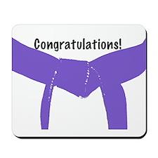 Martial Arts Congratulations Purple Belt Mousepad