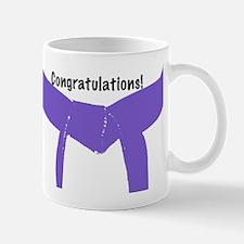 Martial Arts Congratulations Purple Belt Mug