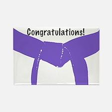 Martial Arts Congratulations Purple Belt Magnet