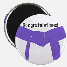 Martial Arts Congrats Purple Belt Magnet 100PK