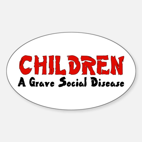 Children Social Disease Oval Decal