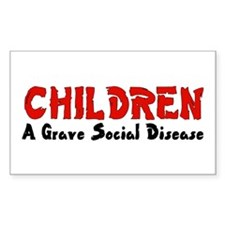 Children Social Disease Rectangle Decal