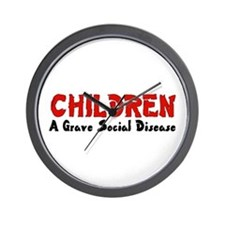 Children Social Disease Wall Clock