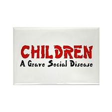 Children Social Disease Rectangle Magnet