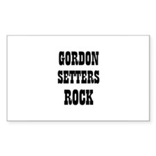 GORDON SETTERS ROCK Rectangle Decal