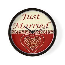 Celtic Heart Wedding Set Wall Clock