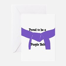 Proud to be a Purple Belt Greeting Cards (Pk of 10