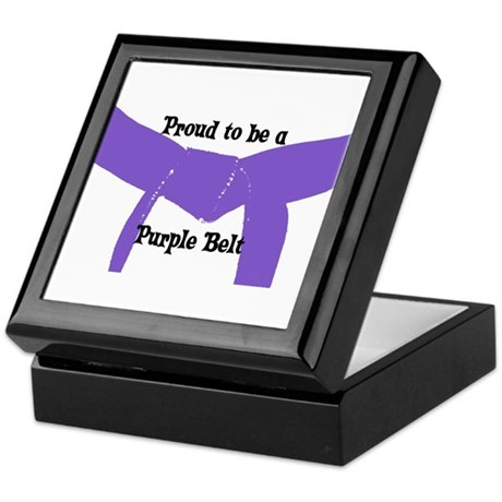 Proud to be a Purple Belt Keepsake Box