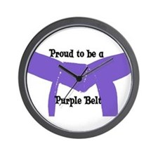 Proud to be a Purple Belt Wall Clock