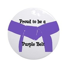 Proud to be a Purple Belt Ornament (Round)
