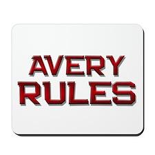 avery rules Mousepad