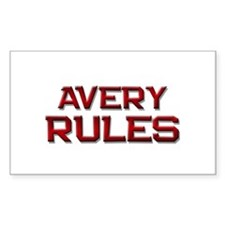 avery rules Rectangle Decal