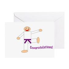 Purple Belt Congratulations Card
