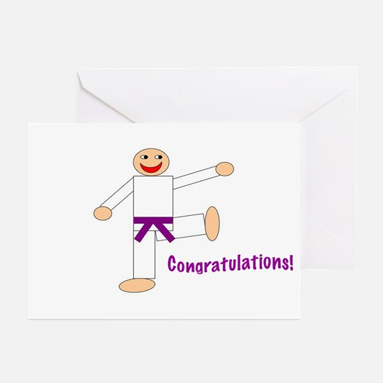 Purple Belt Congratulations Cards 10PK