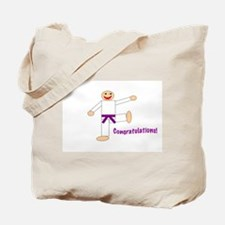 Purple Belt Congratulations Tote Bag