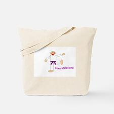 Purple Belt Congratulations Tote Bag