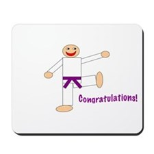 Purple Belt Congratulations Mousepad