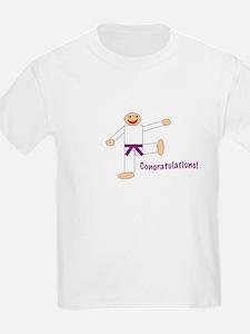 Purple Belt Congratulations T-Shirt