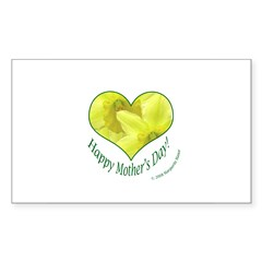 Daffodils in Heart, Mother's Day Decal