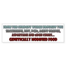 GM Food Bumper Bumper Sticker