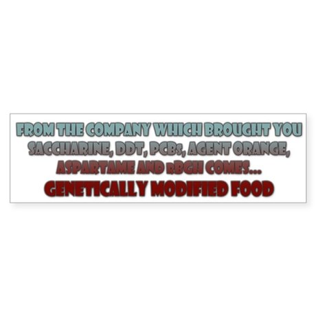 GM Food Bumper Sticker