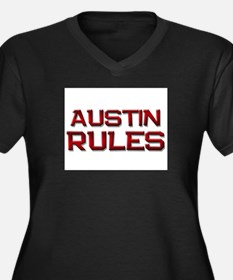 austin rules Women's Plus Size V-Neck Dark T-Shirt