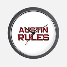 austin rules Wall Clock
