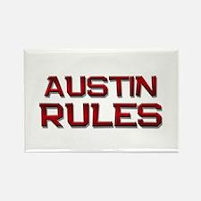 austin rules Rectangle Magnet