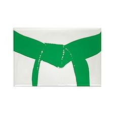 Martial Arts Green Belt Rectangle Magnet (10 pack)