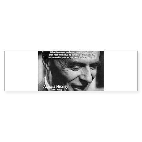 Humanist Aldous Huxley Bumper Sticker
