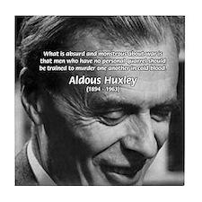 Humanist Aldous Huxley Tile Coaster