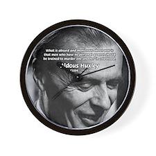 Humanist Aldous Huxley Wall Clock